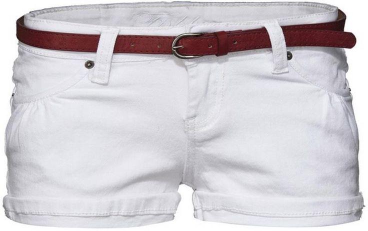 Белые женские шорты