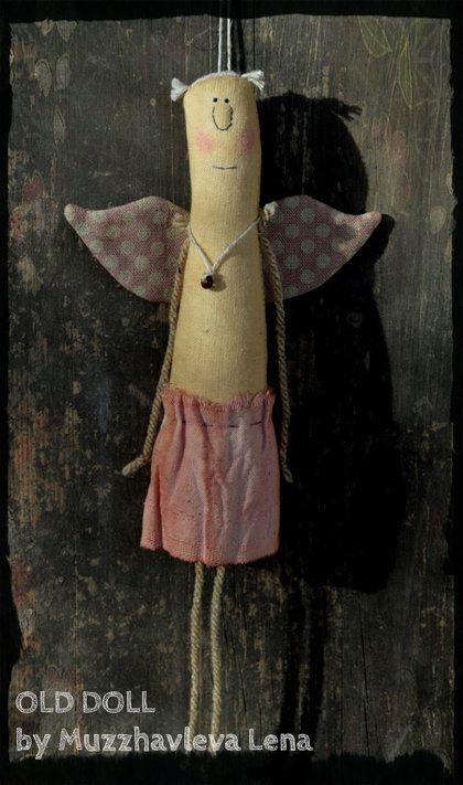 """""""Крылатая компания..."""" Интерьерные куклы - примитив,ангел,подвеска,игрушка на елку"""