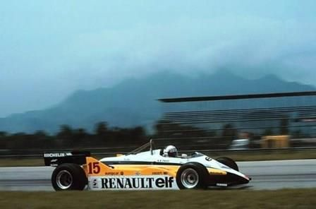 The Renault driven by Alain Prost to win the 1982 Brazilian Grand Prix.