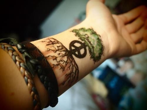 Tree Tattoos Fashion Styles on Wrist