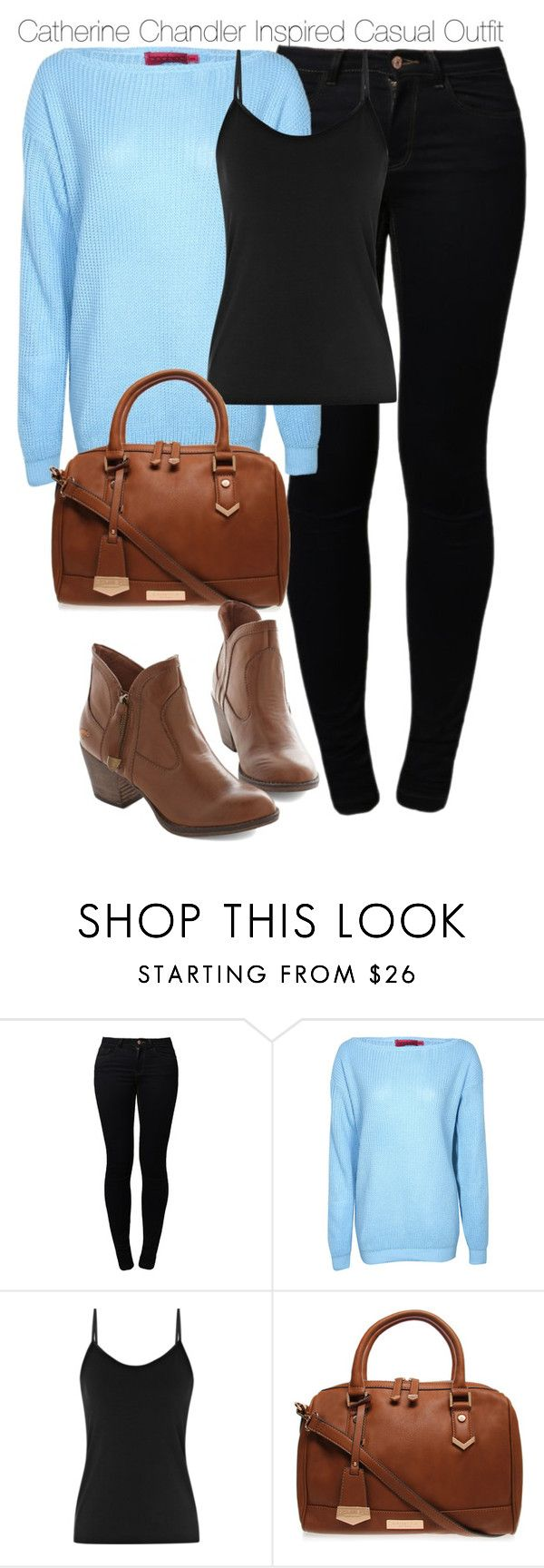 """Beauty & the Beast - Catherine Chandler Inspired Casual Outfit"" by staystronng ❤ liked on Polyvore featuring Noisy May, Boohoo, Reiss, Carvela Kurt Geiger, Inspired, INSPIRE, BeautyandtheBeast, BATB and catchandler"
