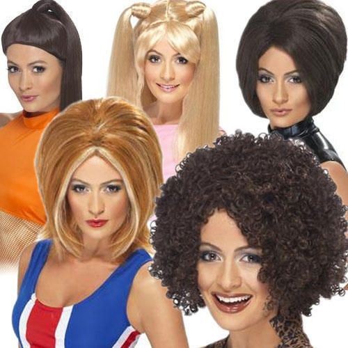 Ladies Posh Ginger Baby Scary Sporty Spice Girls Fancy Dress Costume Outfit Wig #Unbranded #Wig