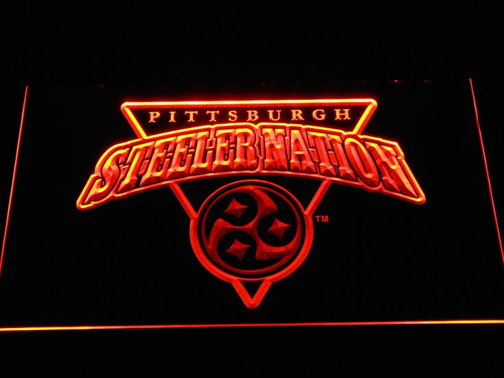 Pittsburgh Steelers Steeler Nation LED Neon Sign