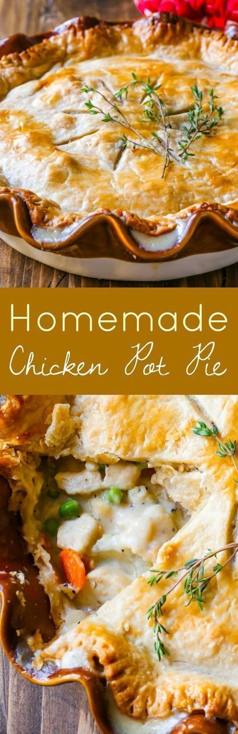 Double Crust Chicken Pot Pie Recipe from http://sallysbakingaddiction.com. This is my favorite recipe for pot pie. Creamy, comforting, easy dinner!