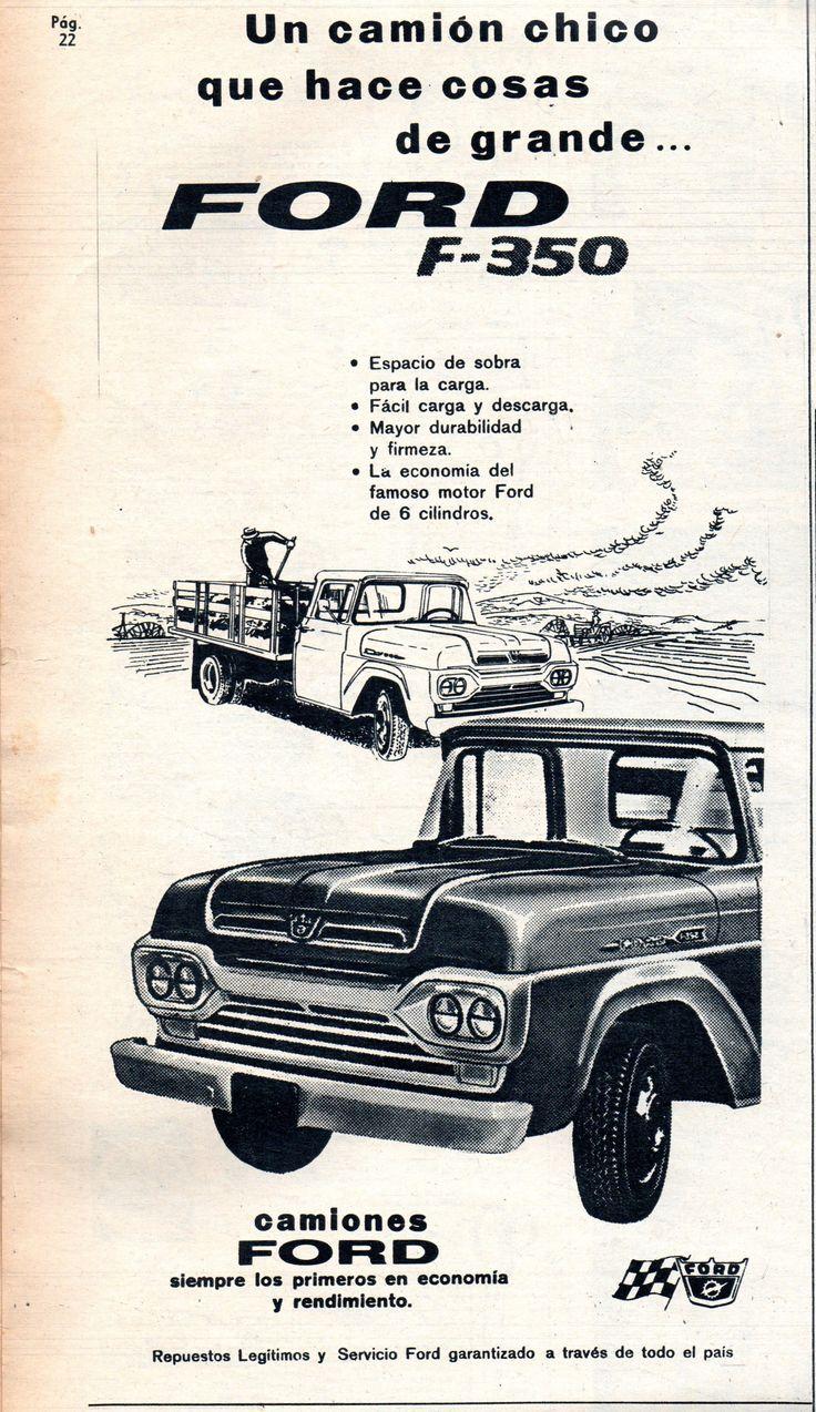 Un camión chico que hace cosas de grande... Ford F-350. Publicado en revista Vea junio 1960