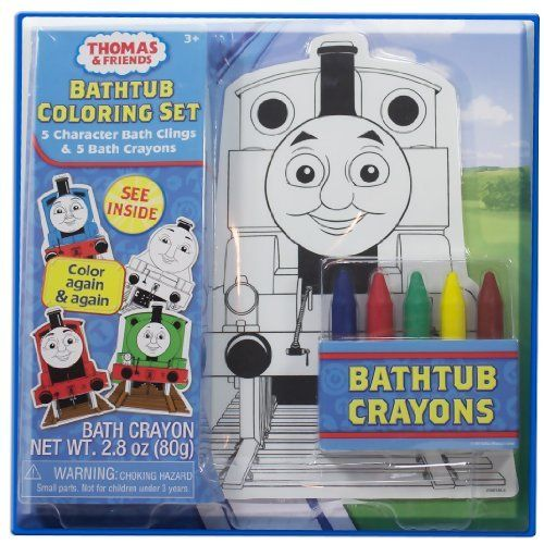 Thomas and Friends, 10 Piece Bath Time Coloring Set with 5 Character Bath Clings and 5 Bath Crayons, Thomas The Train by Thomas and Friends. $24.98. Color again and again with the Thomas and Friends Bathtub Coloring Set.. Make Bath Time Fun with a Thomas and Friends Bathtub Coloring Set. Reuse Again and Again!!. Color again and again with the Thomas and Friends Bathtub Coloring Set. Make Bath Time Fun with a Thomas and Friends Bathtub Coloring Set. Reuse Again and Again!!