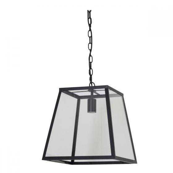 Hanglamp Saunte glas metaal zwart incl lamp - Wants & Needs