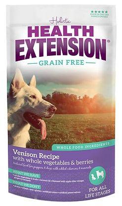 Holistic Dog Health Extension Venison Dry Dog Food 4 lbs