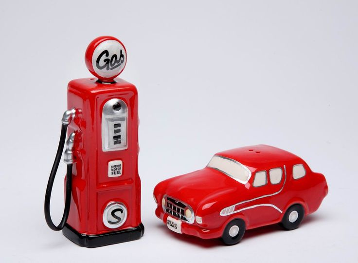 Vintage Retro Red Road Trip Salt and Pepper Shakers S/P