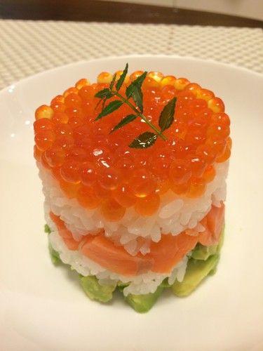 Easy Doll Festival ☆ Salmon Caviar and Avocado Sushi Cake