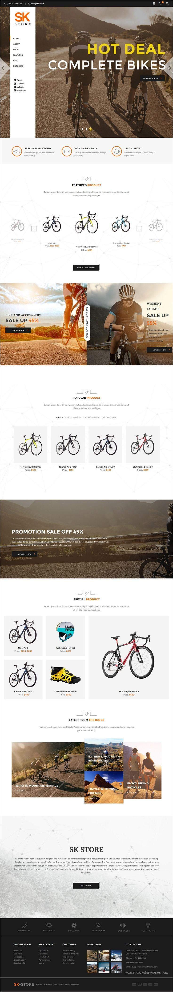 Sk store is responsive premium #WordPress theme best fit for a wide range of #sports #shops, from selling skateboards, snowboards to mountain #bikes eCommerce website download now➩ https://themeforest.net/item/sk-store-responsive-store-wp-theme-for-sport-and-athletes/16391799?ref=Datasata