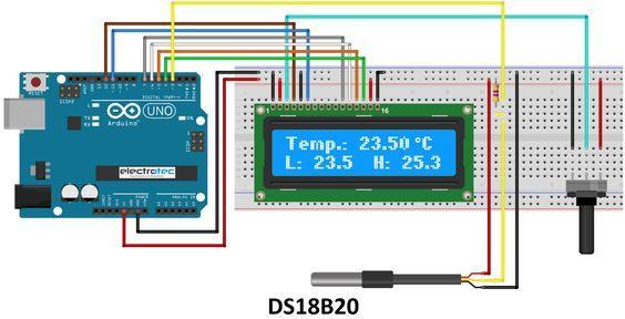 Electrotec - Electrónica y Robótica | SENSOR DE TEMPERATURA DS18B20