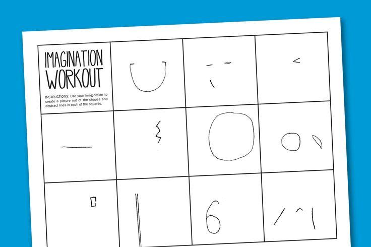 Imagination Workout Printable Worksheet (C/O supermommoments.com)