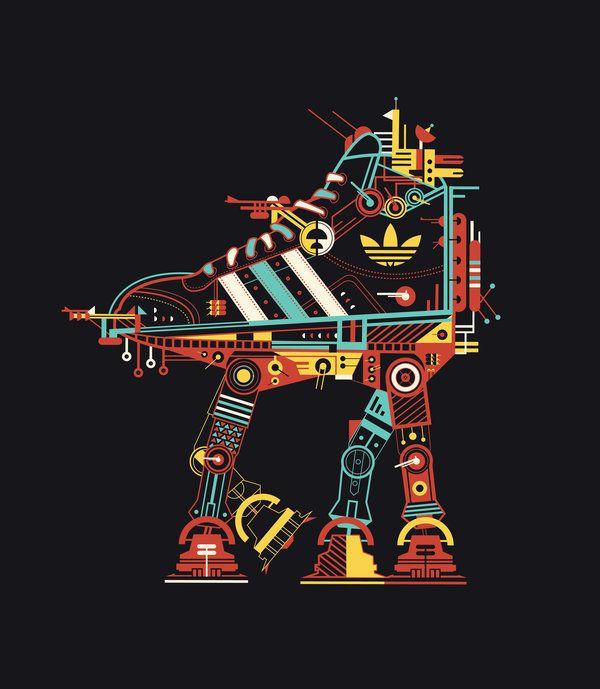 Adidas walker Star Wars style #kicks #adidas #starwars