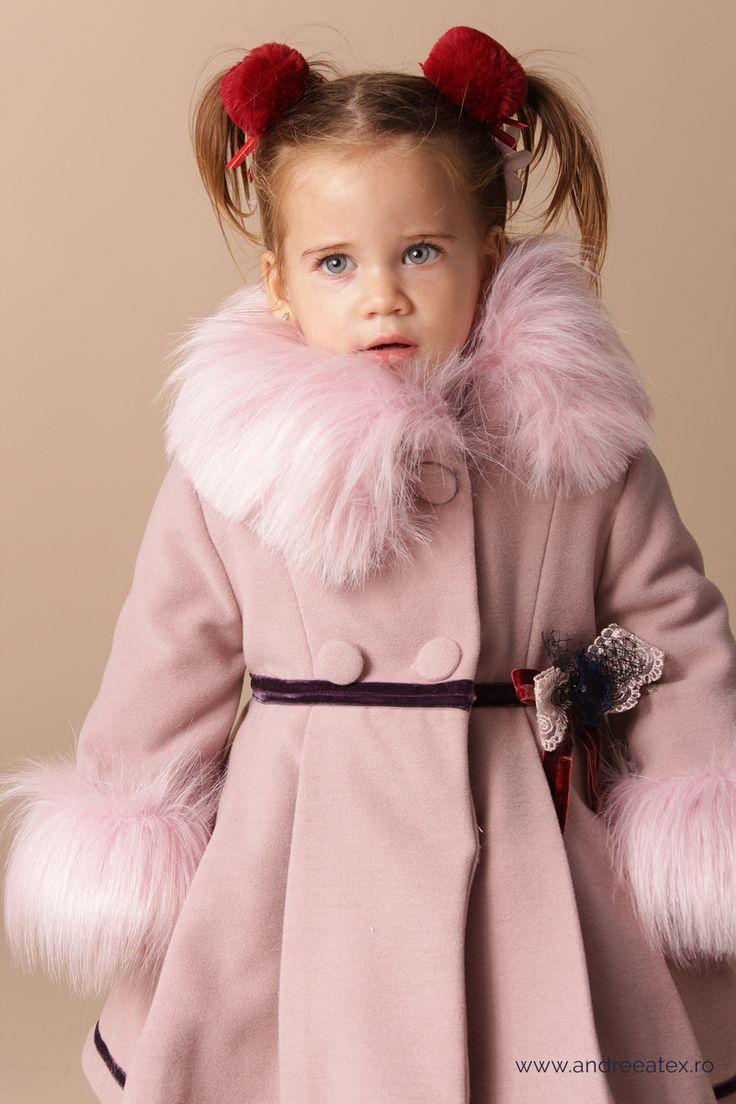 Paltonas fete cu blanita COAT WITH FUR from Andreeatex - Romania -  Baby girl | 1-4 years | It's winter