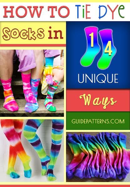 How to Tie Dye Socks in 14 Unique Ways | Guide Patterns