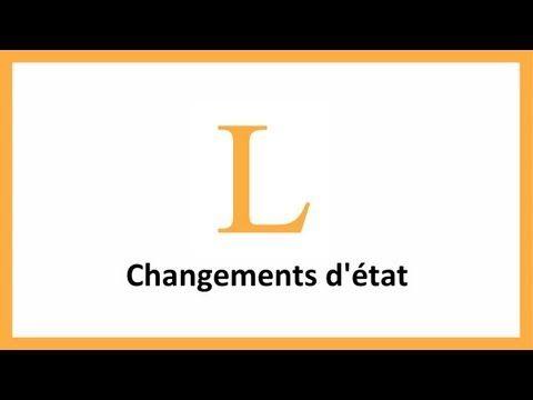 Physique - Changements d'état