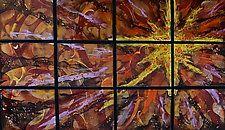 """New Golden Star by Cynthia Miller (Art Glass Wall Sculpture) (34"""" x 54"""")"""