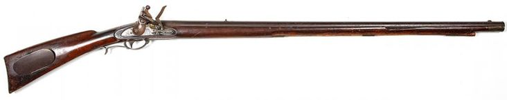 "Interesting US Military 1817 Flintlock Rifle By Nathan Starr & Son, 1841 An Interesting and Possibly Unique U.S. Model 1817 Flintlock Rifle, a.k.a. ""Common Rifle"" (made c. 1817-1840's). This example made by contractor to the U.S. Government Nathan Starr & Son, Middletown, Connecticut, 1841. 36 1/8"" round steel barrel (originally made in .54 rifled but now .56 cal. smooth bore); stuck on the left side of breech; ""J C B"" over and ""P"" within and oval and dated on the top of tang ""1841"". Lock…"