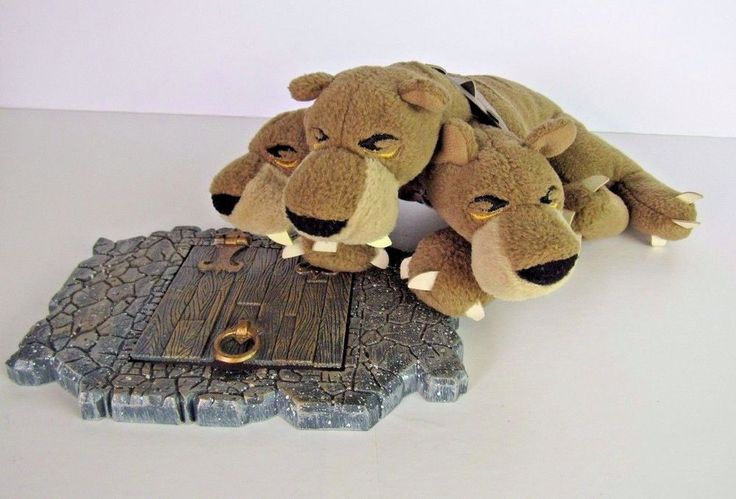 Harry Potter Hagrid's Pet Three Head Dog Fluffy - Plush Toy  by Trudi 2001