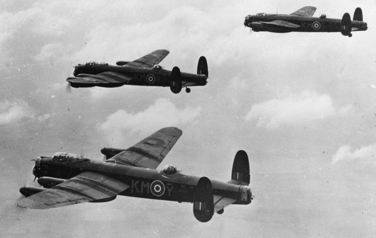 Lancasters from No.44 Squadron during practice flights