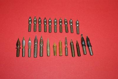 Dip Pen Nib Pack - 23 different nibs - Vintage Material
