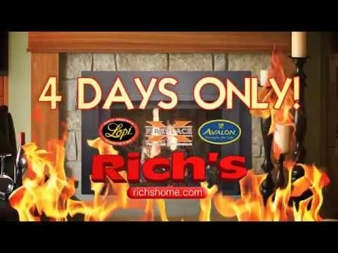 Over 1,000 Fireplaces, Inserts, and Stoves on Sale  Rich's is reducing the price of every fireplace, insert, and stove through Sunday, November 13, 2016. That's over 1,000 gas, wood, pellet, and electric hearth products in stock, ALL on sale.  Save up to 1/3 off during this once-a year savings event. Three years 0% financing available on approved credit. Installed by Thanksgiving.  Sale ends Sunday at 5 p.m. at all five Rich's showrooms in Bellevue, Lynnwood, Tacoma, Tukwila, and Silverdale.