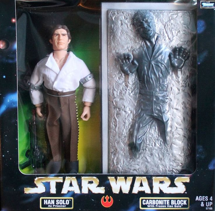 "STAR WARS 1998 HAN SOLO with FROZEN CARBONITE BLOCK 12"" Action Figure"