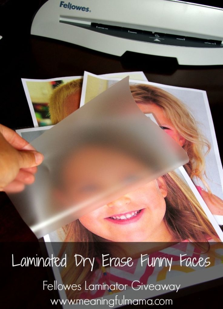Laminated Wipe Away Kid Funny Faces - They can decorate their faces over and over again. #paid http://meaningfulmama.com/2014/08/laminated-dry-erase-funny-faces.html