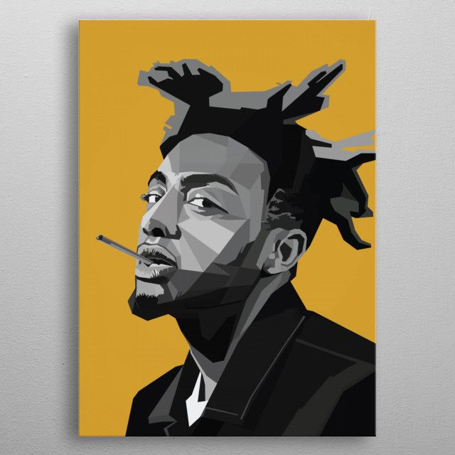 Amine Rapper Metal Poster Nguyen Dinh Long Displate In 2020 Amine Rapper Album Cover Art Rapper Art