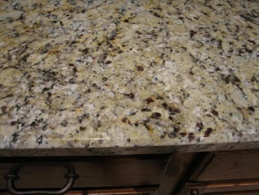 Santa Celia granite counter tops.