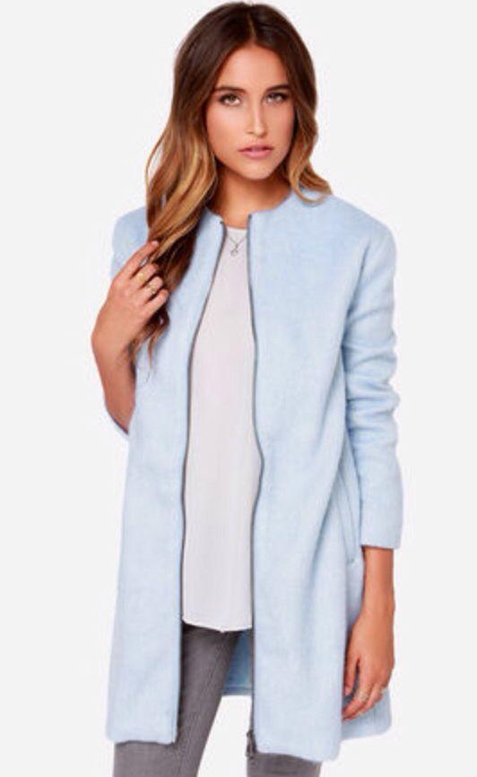 BB Dakota Liezel Sky Blue Coat $119 lulus.com