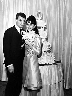 Actor Tony Curtis and 17-year-old actress Christine ...