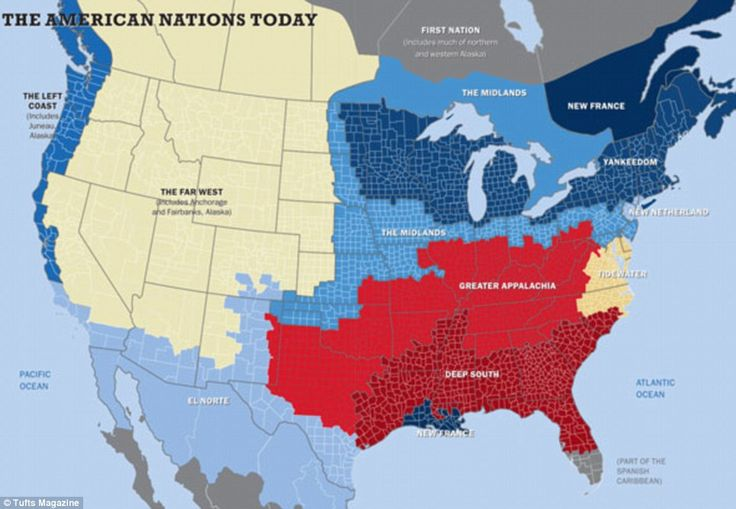 Fascinating article for Social Studies discussion about regions, settlement, and cultural footprints in US