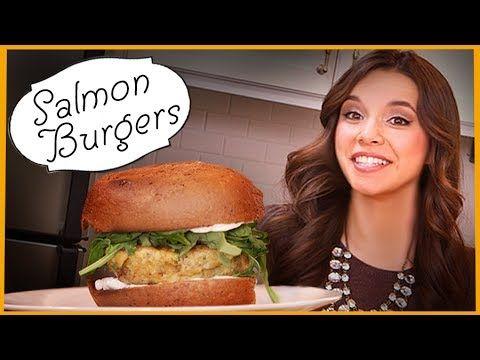 Ingrid Dishes | Salmon Burgers | Recipes from Missglamorazzi - YouTube