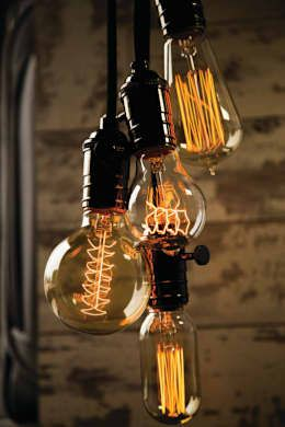 Edison lamps are totally trending and super hipster. They're also really easy to install and make a simple, pretty decoration with some nice, subtle light. Household by William and Watson.