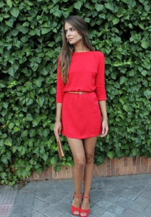 Summer red dress. fashion women apparel clothing outfit closet ideas