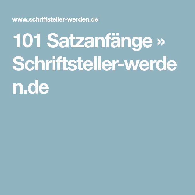 101 Satzanfänge » Schriftsteller-werden.de