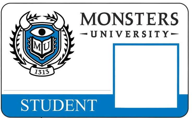 Monsters University Free Student Id Card Monster University