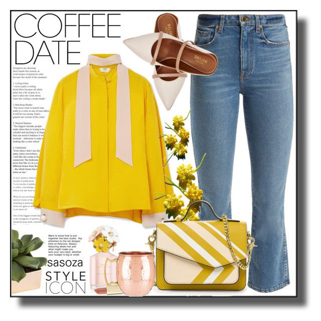 """""""OOTD by sasoza"""" by sasooza ❤ liked on Polyvore featuring Khaite, Malone Souliers, CB2, Fendi, Marc Jacobs and Axiology"""