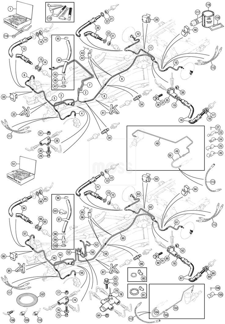 Brake Pipes & Hoses - Brake Hydraulics - Brakes - TR5-6 - Triumph - Shop by Model