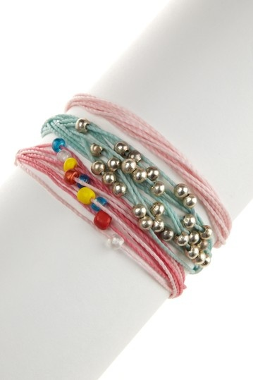 I love these colors for summer and these bracelets are light enough to wear in the heat.
