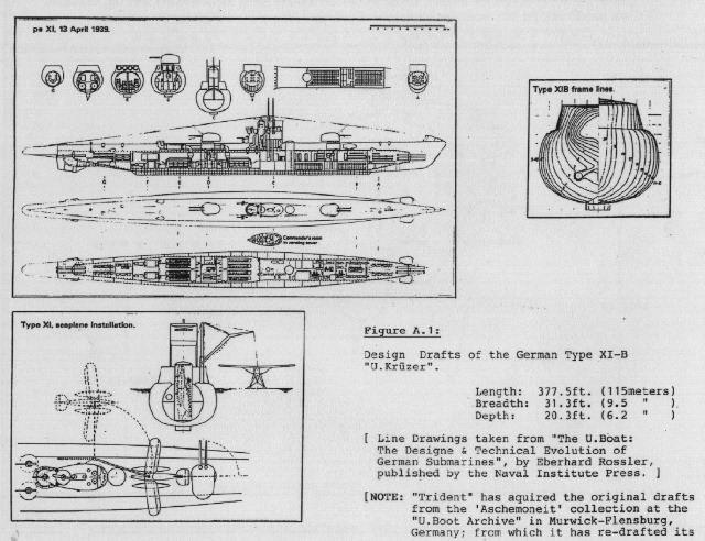 Type XIB Uboat with Arado floatplane plans Model ships