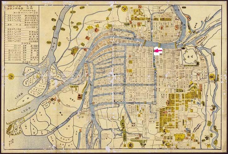 Old map of OSAKA