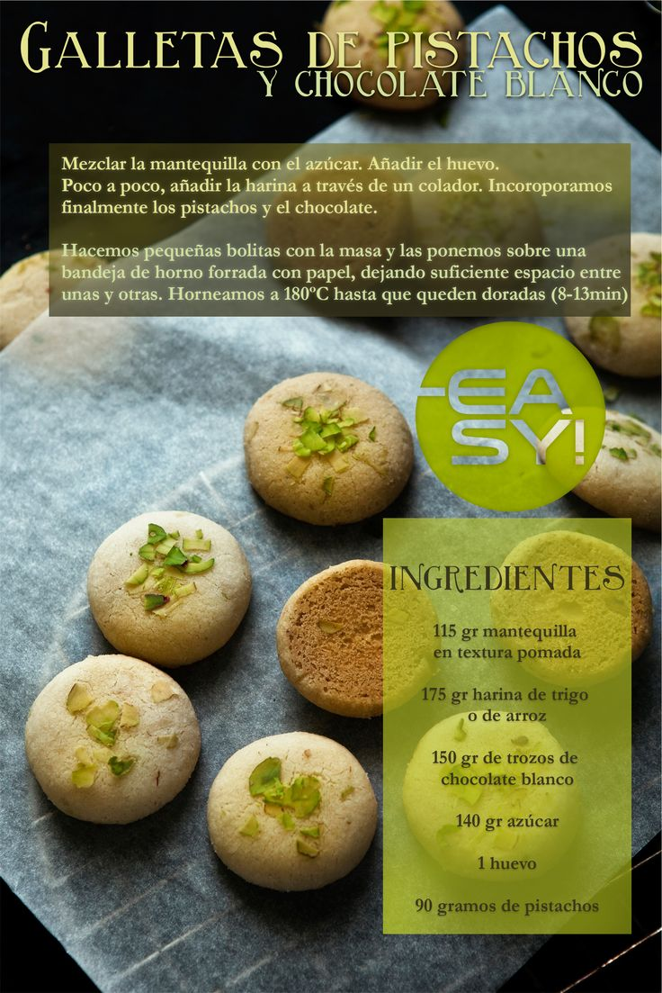 #Galletas de pistachos  #cookies
