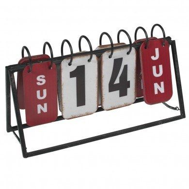 Industrial Style Metal Calendar
