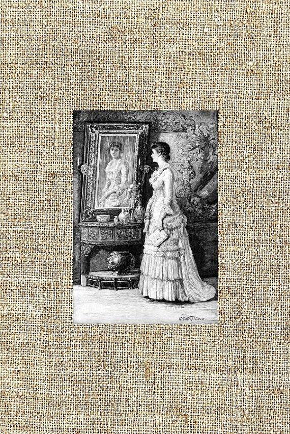 Old book illustration vintage photo print framed print