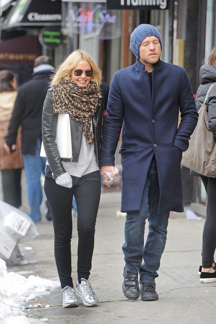 Lara Bingle and Sam Worthington in New York, 2014