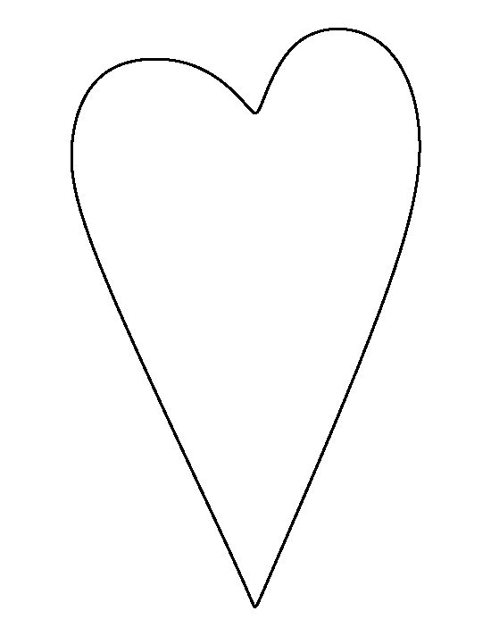 Primitive heart pattern. Use the printable outline for crafts, creating stencils, scrapbooking, and more. Free PDF template to download and print at http://patternuniverse.com/download/primitive-heart-pattern/