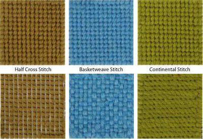 Tent Stitch - How to Work the Tent Stitch (reverse side is the bottom row) -- NOW I will not get these stitches mixed up anymore!